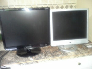 Two computer monitors for sale.  Quality name brands