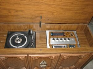 vintage morse stereo 8 track,and record player