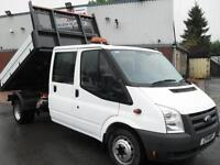 2011 FORD TRANSIT CREW D/CAB TIPPER, 115PS, 57K MILES, BEST IN THE UK!!