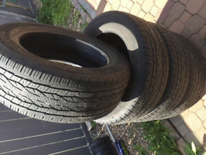 275/55r20 set 4 continental all season tires in excellent condit