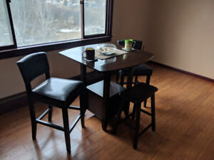 Bar height table and chairs 200