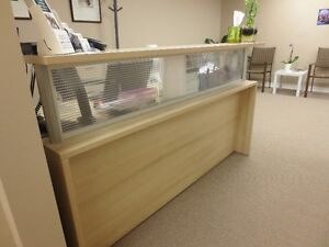 Beautiful tan coloured office desk for reception London Ontario image 1