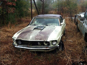 Looking for 1967 to 1969 Ford Mustang donation car