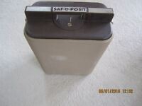 Strongbox for your valuables  Saf D posit