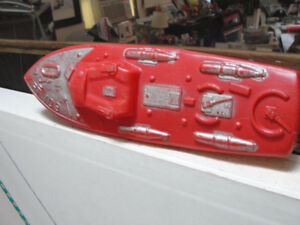Empire PT boat toy - red plastic blow mold