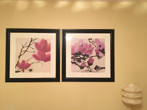 Oriental flower Picture frame, wall decor, wall hanging