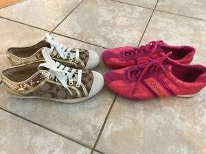 Coach sneakers- size 5 1/2
