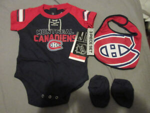 MONTREAL CANADIENS NHL BABY 3 PIECE SET brand new