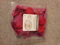 Red coloured flower petals