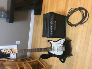 Electric guitar, amp and stand starter kit