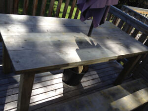 Nice Large Wooden Dining or Patio Table for Sale