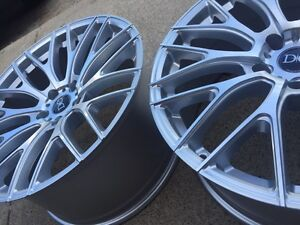 """NEW 19""""ADV One 10.0 staggered reps (5x114)- Silver + Machined"""