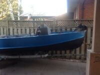 Custom 16 ft aluminum with 70 hp mercury force