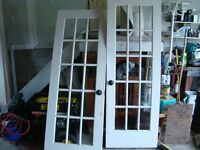 Pair of interior French Doors 28x80