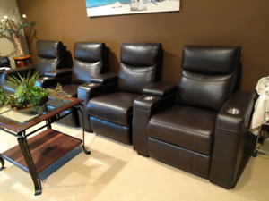 Home theater leather recliners . Originally $3k