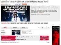 Concert tickets Jackson Live Grand opera house York 27-9-17