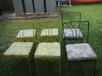 6 wrought iron bistro/patio chairs