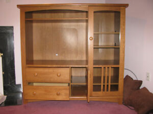 TV unit with display cabinet