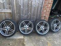 Genuine BMW 313 alloys x4 with like new tyres