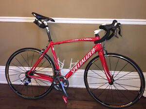 Specialized Carbon Tarmac Expert - Red  56 cm L $1900