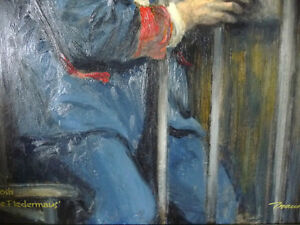 "Opera, Original Oil by Geoffrey Traunter ""Die Fledermaus"", 1977 Stratford Kitchener Area image 7"