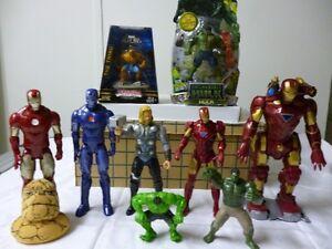 Marvel Superhero Lot Thor, Iron Man, Hulk