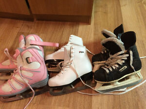 Skates size, 1, 2 and 90 (1Ee)