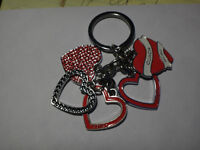 Coach Key Chain with Hearts - Authentic