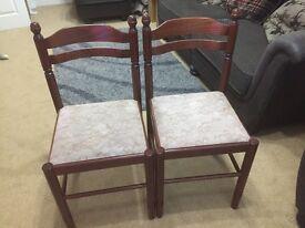 2 dining room chairs mahogany