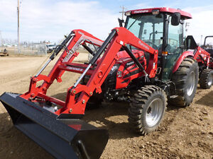 65 HP Tractor with Cab and Loader!