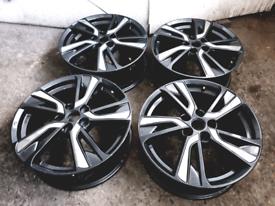 "18"" Nissan juke Qashqai limited edition alloy wheels Grey and chrome"