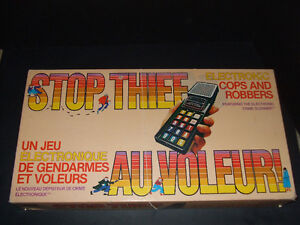 Vintage Stop Thief electronic board game