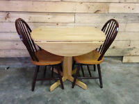 Apartment Sized Drop Leaf Table and 2 Chairs - Delivery