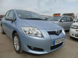 2007 57 TOYOTA AURIS 1.6 VVT-I TR 5DR YEAR MOT RUNS WELL FULL SERVICE LOW MILES