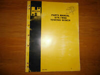 HYSTER D7K W8K Dozer Towing Winch Parts Manual CAT D7 977