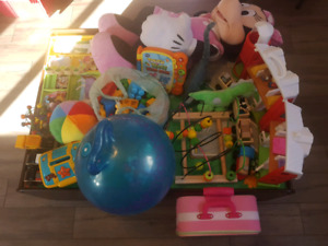 Toys and train table