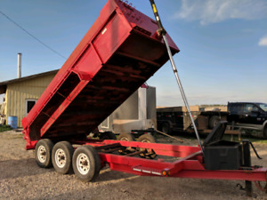 7x16 Tri axle dump trailer  For sale!