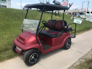 2014 CC Precedent Electric Golf Cart - Custom Hydro Dip Body