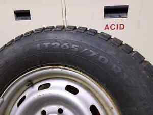 Champiro ice champ 2 Lt265/70 R17 tires on 8 bolt rims.