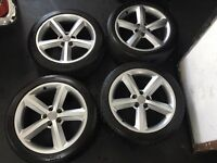 """Genuine Audi A4 S line 18"""" alloys and tyres (Michelin) ++ BARGAIN++"""