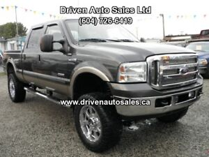2007 Ford F-350 Lariat Lifted Diesel Crew Cab 4x4 Sunroof Truck