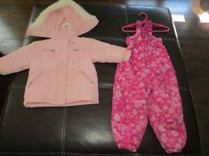 Size 3 Pink Winter coat and Snowpants