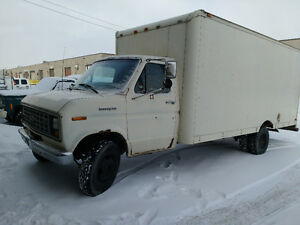 1988 Ford E-350 Cube van $5000/trade for 16'-24' cargo trailer.