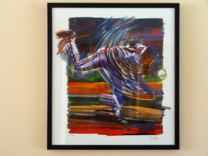 lithograph by Bill Hall - 'The Pitcher'