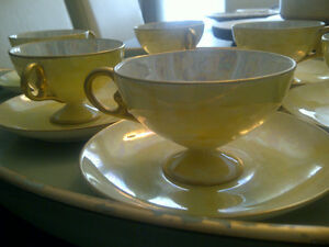 6 beautiful Japanese tea cups from the 40's