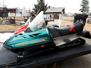 Two sleds and trailor for sale