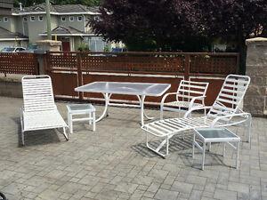 Patio Furniture $150; Retro Bedroom Set $500 & Suburban $9600