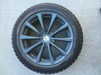 Only used one season  Infiniti rims and winter tires 225/50-18