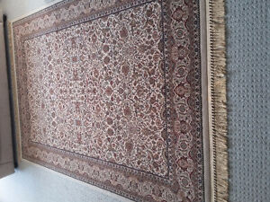 Persian carpet area rug beige patterned Like new condition London Ontario image 10