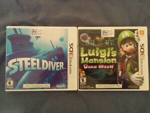 LUIGI MANSION ET STEEL DIVER 3DS